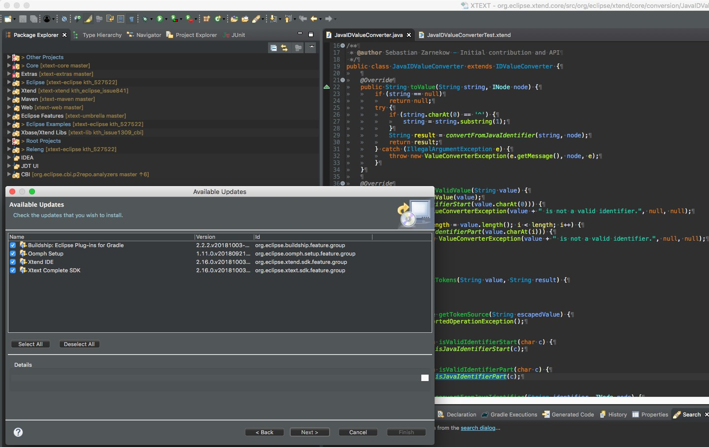 Eclipse-IDE mit Dark-Theme. (Abb. 3)