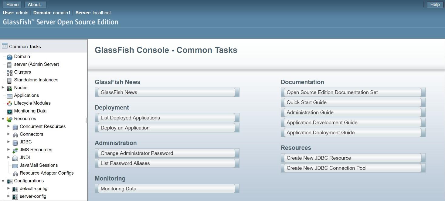 GlassFish 5.1 Admin-Console. (Abb. 2)